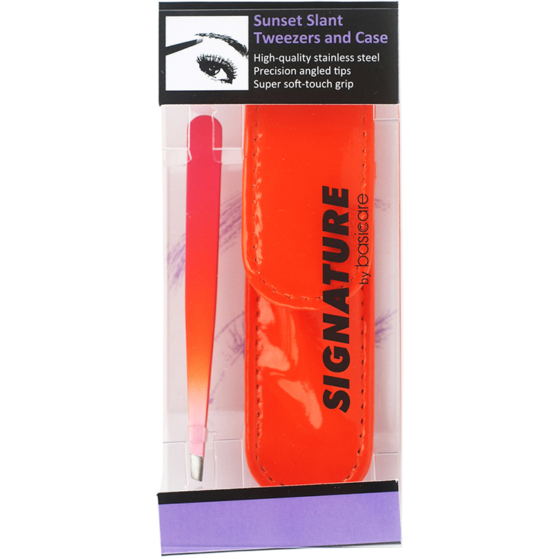 Sunset Slant Tweezers and Case (Item Code 5003)